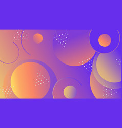 Colorful geometric shapes composition on gradient vector