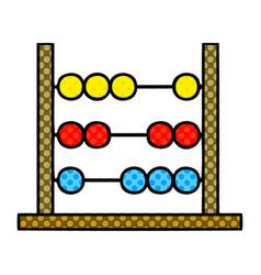 Comic book style cartoon maths abacus vector
