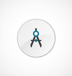 compasses icon 2 colored vector image
