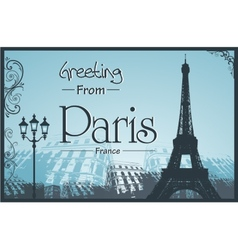 copyspace retro style poster with paris background vector image