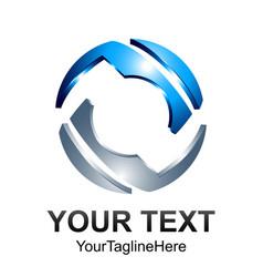 creative abstract technology sphere logo design vector image