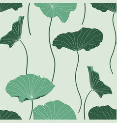 Creen abstract lotus leaves simple line arts vector