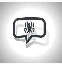 Curved spider message icon vector