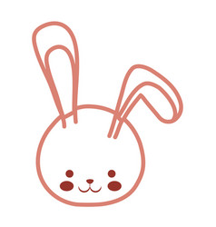 Cute bunny icon image vector