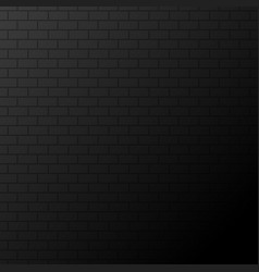 dark background or banner black bricks on wall vector image