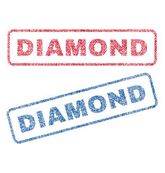 Diamond textile stamps vector