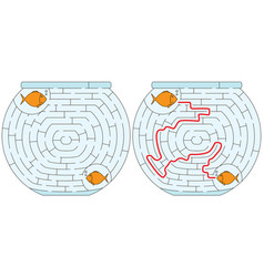 Easy fishbowl maze vector