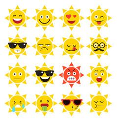 Emojis sun sunlight vector