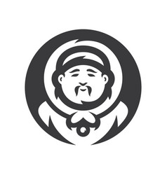 eskimo cartoon silhouette sign vector image