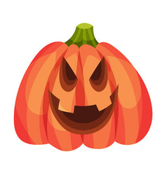 Evil intentions on a jack lantern vector