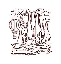 Explore more in desert line vector
