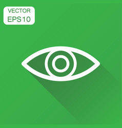 eye icon business concept eyesight pictogram on vector image