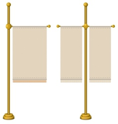 Flags on gold pole vector