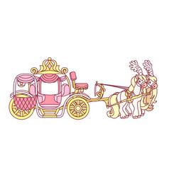 flat cinderella carriage vector image