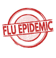 Flu epidemic sign or stamp vector