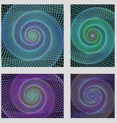 Fractal spiral page background design set vector