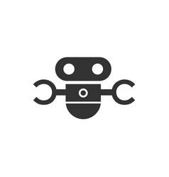 future robot logo minimalist vector image