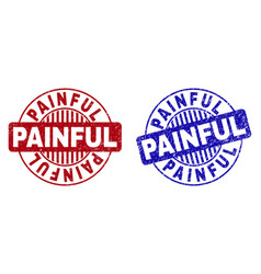 Grunge painful textured round stamp seals vector