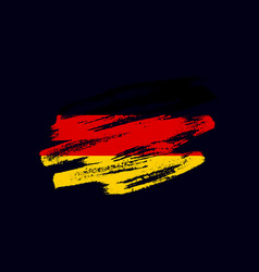 grunge textured german flag vector image