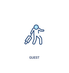 Guest concept 2 colored icon simple line element vector