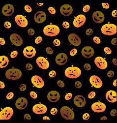 halloween pumpkin textured background vector image