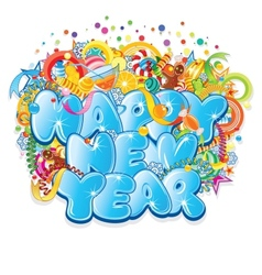 Happy New Year Title Design vector