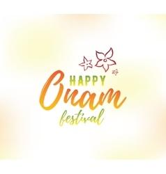 Happy onam festival vector image