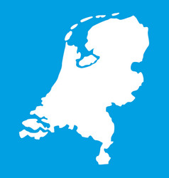 holland map icon white vector image