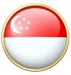 icon design for flag of singapore vector image