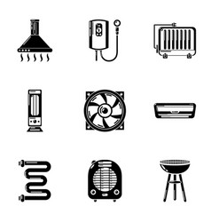 Insulate icons set simple style vector