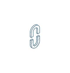 internet link broken chain isometric icon 3d line vector image