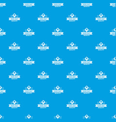 Kid hat pattern seamless blue vector