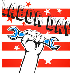 labor day concept vector image