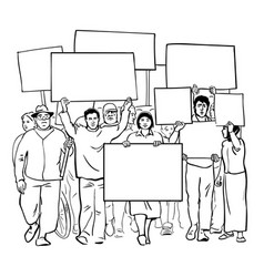 mass demonstration of protest vector image