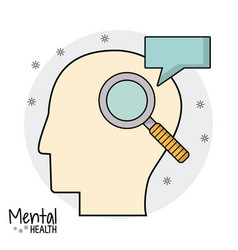 Mental health head search speak vector