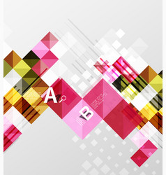 minimalistic square shapes abstract background vector image