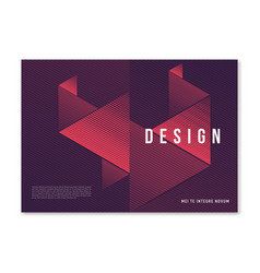Modern abstract geometric a4 size cover design for vector