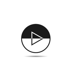 play button template vector image