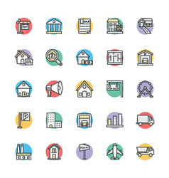 Real Estate Cool Icons 2 vector image