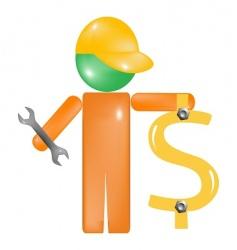 Repair dollar icon vector