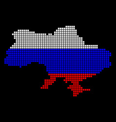 russia colors dot ukraine map with crimea vector image