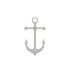 sailing boat anchor flat cartoon vector image vector image