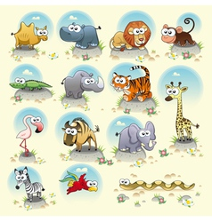 Savannah animals vector image