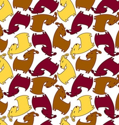 Seamless pattern with brown goat vector image