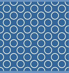 seamless pattern with polka dots blue background vector image
