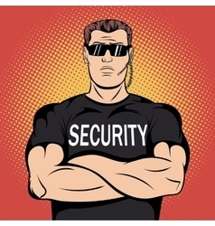 Security guard comics design vector