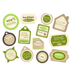 set of labels and stickers in retro style for vector image