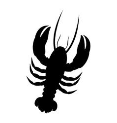 Single lobster icon image vector
