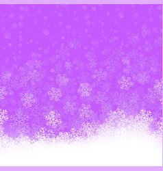snowflakes pattern winter christmas decorative vector image