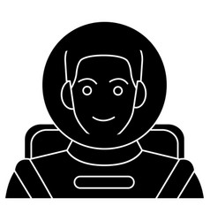 spaceman - astronaut in helmet icon vector image